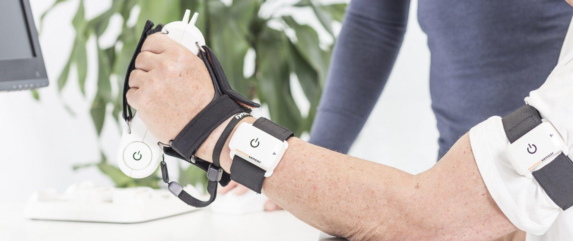 PABLO Sensoren in Anwendung am Arm des Patienten
